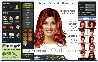 Test virtual hair colors  on yourself