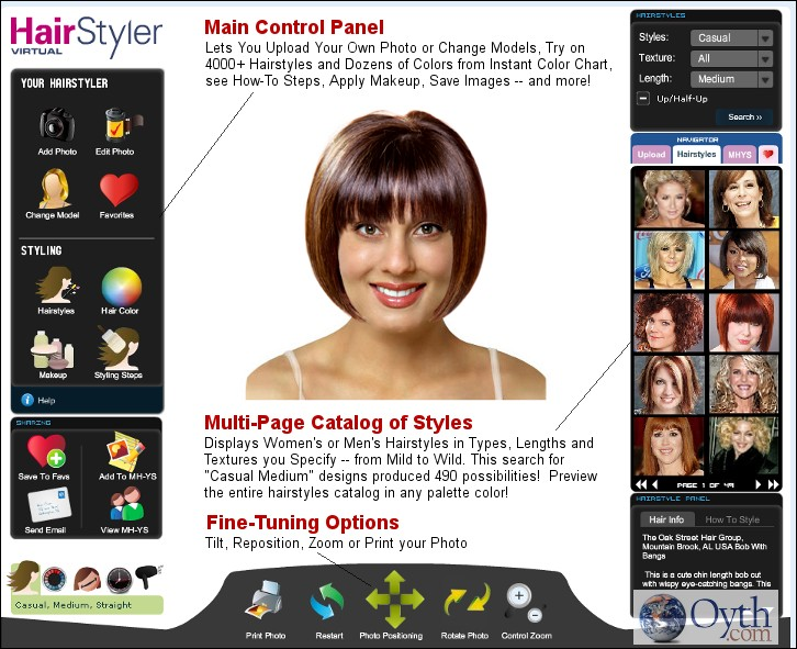 Select Hairstyles, Cuts, Colors